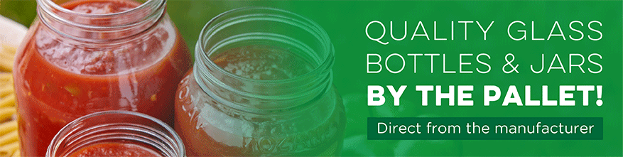 quality glass bottles and jars by the pallet